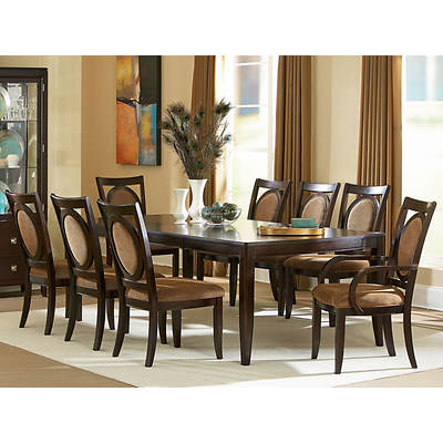 Aada Marie Home Chelsea 9-Piece Dining Set - Gold/Espresso