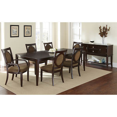 Aada Marie Home Chelsea 8-Piece Dining Set - Gold/Espresso