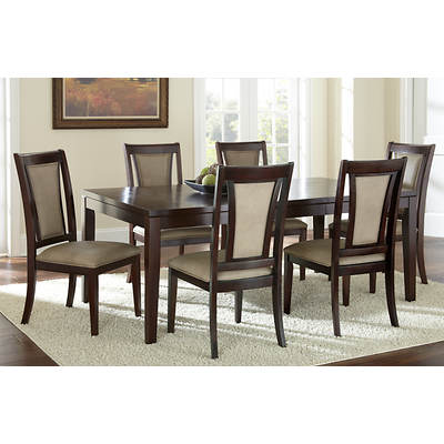 Aada Marie Home Bella 7-Piece Dining Set - Beige/Espresso