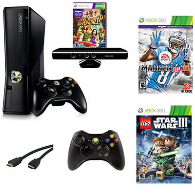 Xbox 360 4GB Kinect Bundle with Kinect Madden NFL '13 and Lego Star Wars III: The Clone Wars (Xbox 360)