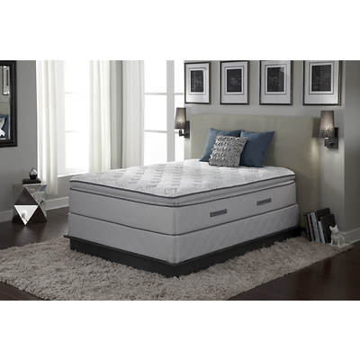 Sealy Edgemont Plush Euro Pillowtop King-Size Mattress Set
