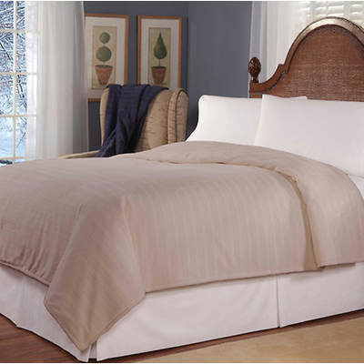 SoftHeat Plush King-Size Triple Rib Electric Blanket - Beige