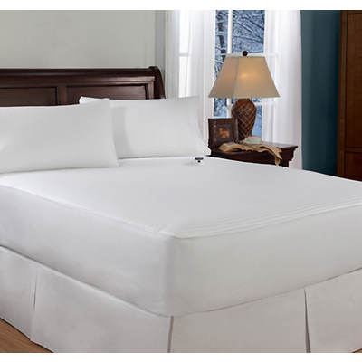 SoftHeat 233 Thread Count King-Size Electric Warming Mattress Pad