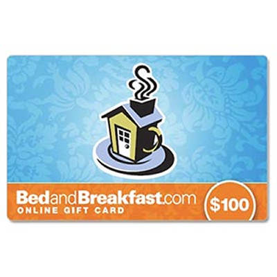 $100 BedandBreakfast.com Gift Card
