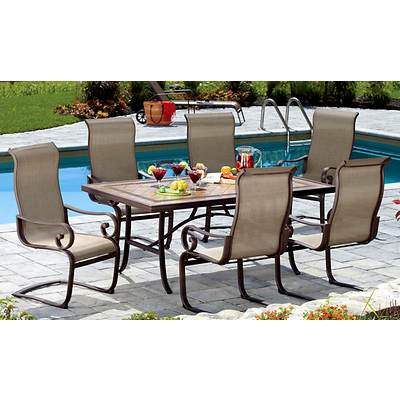 Living Home Outdoors Tivoli 7-Piece Dining Set