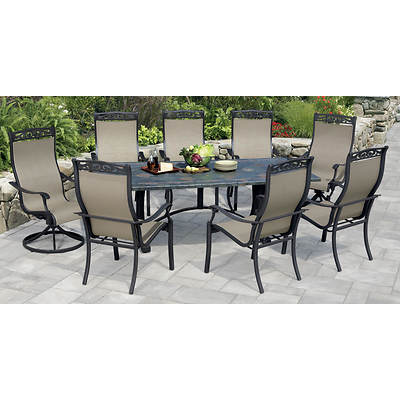 Living Home Outdoors Palladian 9-Piece Dining Set