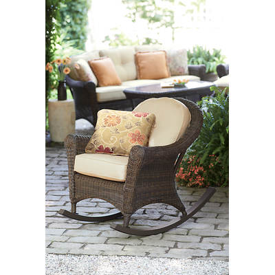 Living Home Outdoors Charleston Wicker Rocking Chair