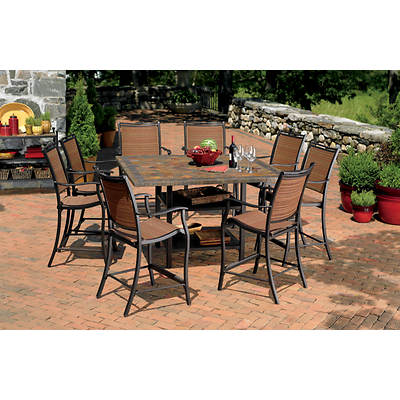 Living Home Outdoors Corsica 9-Piece High Dining Set