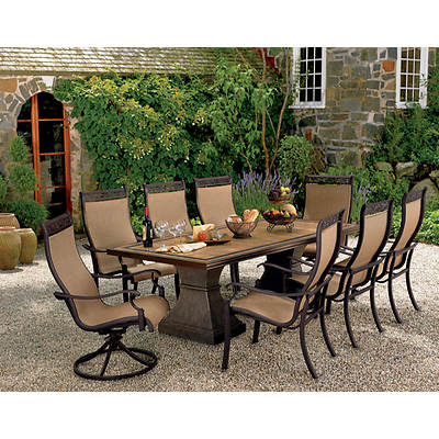 Living Home Outdoors Verona 9-Piece Dining Set
