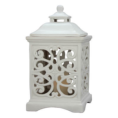 Living Home Ceramic Lantern with Candle