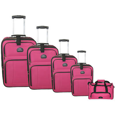 McBrine 5-Piece Luggage Set - Pink