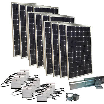 Grape Solar 3,000W Expandable Grid-Tied PV Solar Panel Kit