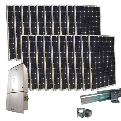 Grape Solar 5,000W Grid-Tied PV Solar Panel Kit