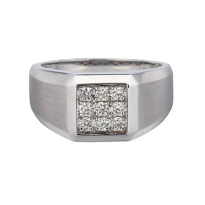 .50 ct. t.w. Men's Right-Hand Diamond Ring in 14K White Gold