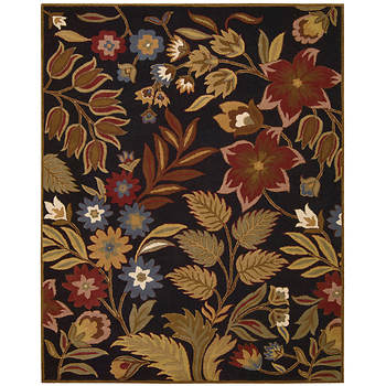"Nourison In Bloom INB01 2'7"" x 4' Rug - Black"