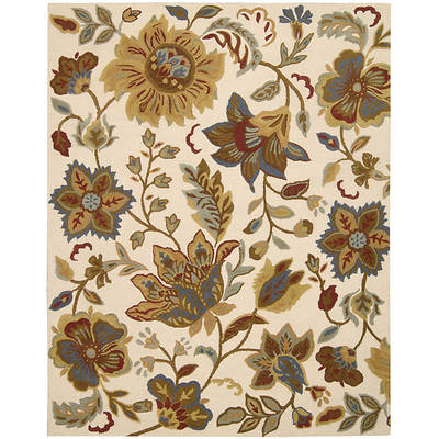 Nourison In Bloom INB06 5'4 x 7'5 Rug - Ivory