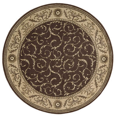 Nourison Somerset ST02 5'7 Round Rug - Brown