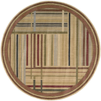 Nourison Somerset ST17 5'7 Round Rug - Multicolored