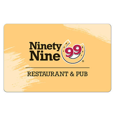 $50 Ninety Nine Restaurants Gift Card