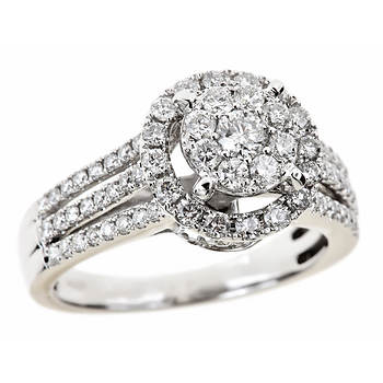 1.20 ct. t.w. Round Diamond Engagement Ring in 14K White Gold