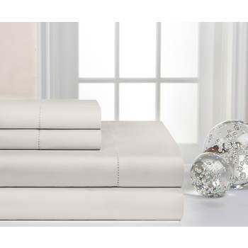 Pointehaven 600-Thread-Count 100% Supima Cotton Deep-Pocket Queen-Size Sheet Set - Linen