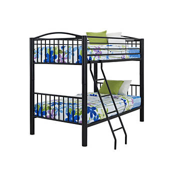 Powell Heavy Metal Twin-Size Bunk Bed - Black