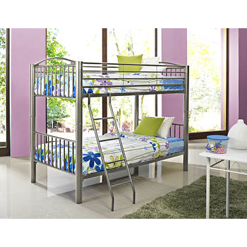 Powell Heavy Metal Twin-Size Bunk Bed - Pewter