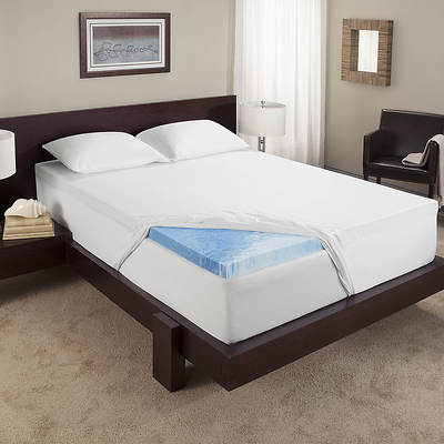 "Sleep Innovations Touch of Comfort Twin-Size 2 1/2"" Gel-Infused Memory Foam Mattress Topper"