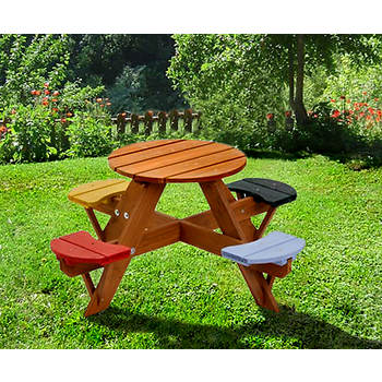 Creative Cedar Designs Round Picnic Table