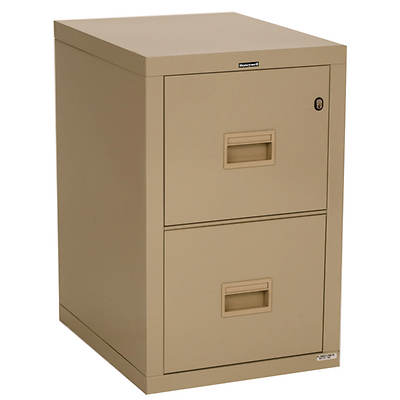 Honeywell 2-Drawer Fireproof Vertical File Cabinet with Key Lock, Letter/Legal