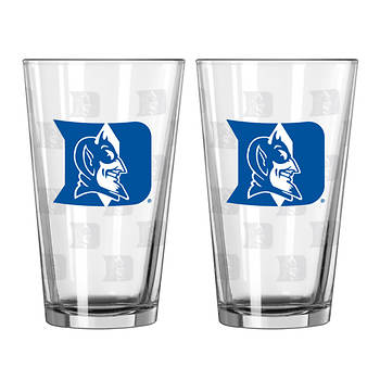 Duke University 16-Oz. Satin Etch Pint Glass, 2-Pk