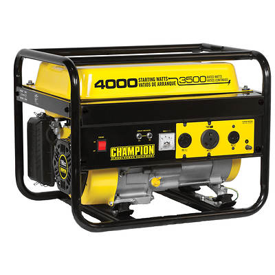 Champion Power Equipment Portable Gas Generator with 3,500 Running Watts, 4,000 Peak Watts