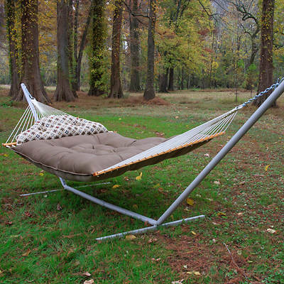 Castaway by Pawleys Island Tufted Fabric Hammock with Pillow