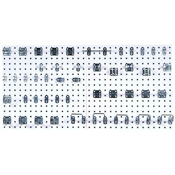 "Triton LocBoard 24"" x 24"" Pegboard, 2-Pk with 46 Hooks"