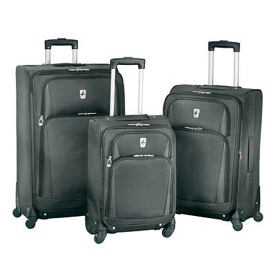 Atlantic Altitude Lite 3-Piece Luggage Set - Charcoal
