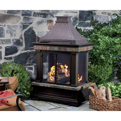 Living Home Outdoors Toscano Fireplace