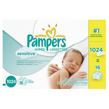 Pampers Sensitive Skin 64-ct. Baby Wipe Refill, 16 pk.