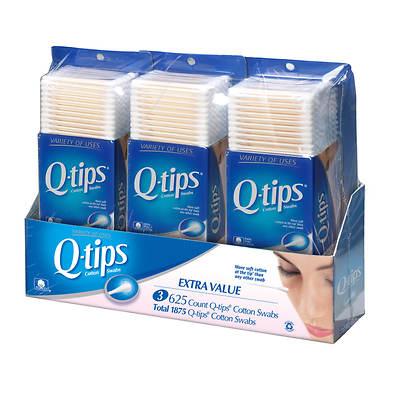 Q-Tip Cotton Swabs, 625 Count, 3-Pk