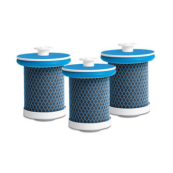 Zuvo High-Capacity Replacement Water Filter, 3-Pk