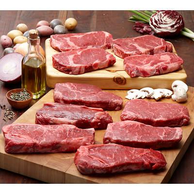Organic Grass-Fed Ribeye & NY Strip Steak Duo