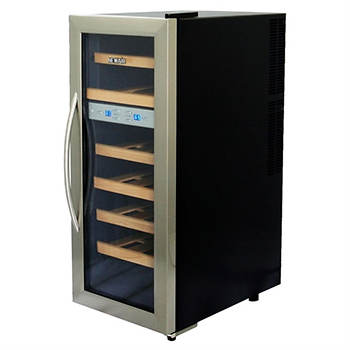 NewAir 21-Bottle Dual-Zone Thermoelectric Wine Cooler - Stainless Steel