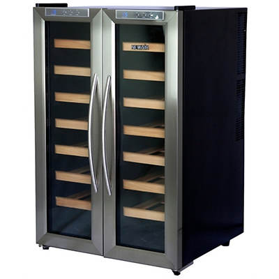 NewAir 32-Bottle Dual-Zone Thermoelectric Wine Cooler