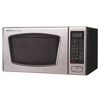 Emerson 0.9-Cu. Ft. 900W Microwave Oven - Stainless Steel