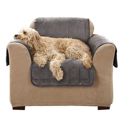 Sure Fit Deluxe Chair Pet Throw - Grey