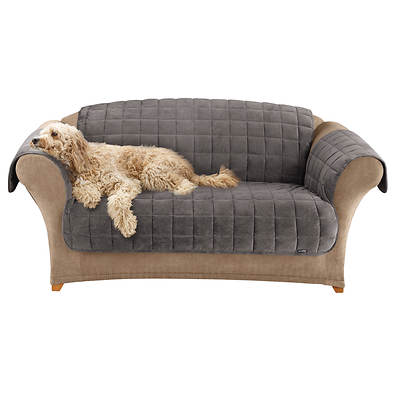 Sure Fit Deluxe Loveseat Pet Throw - Grey