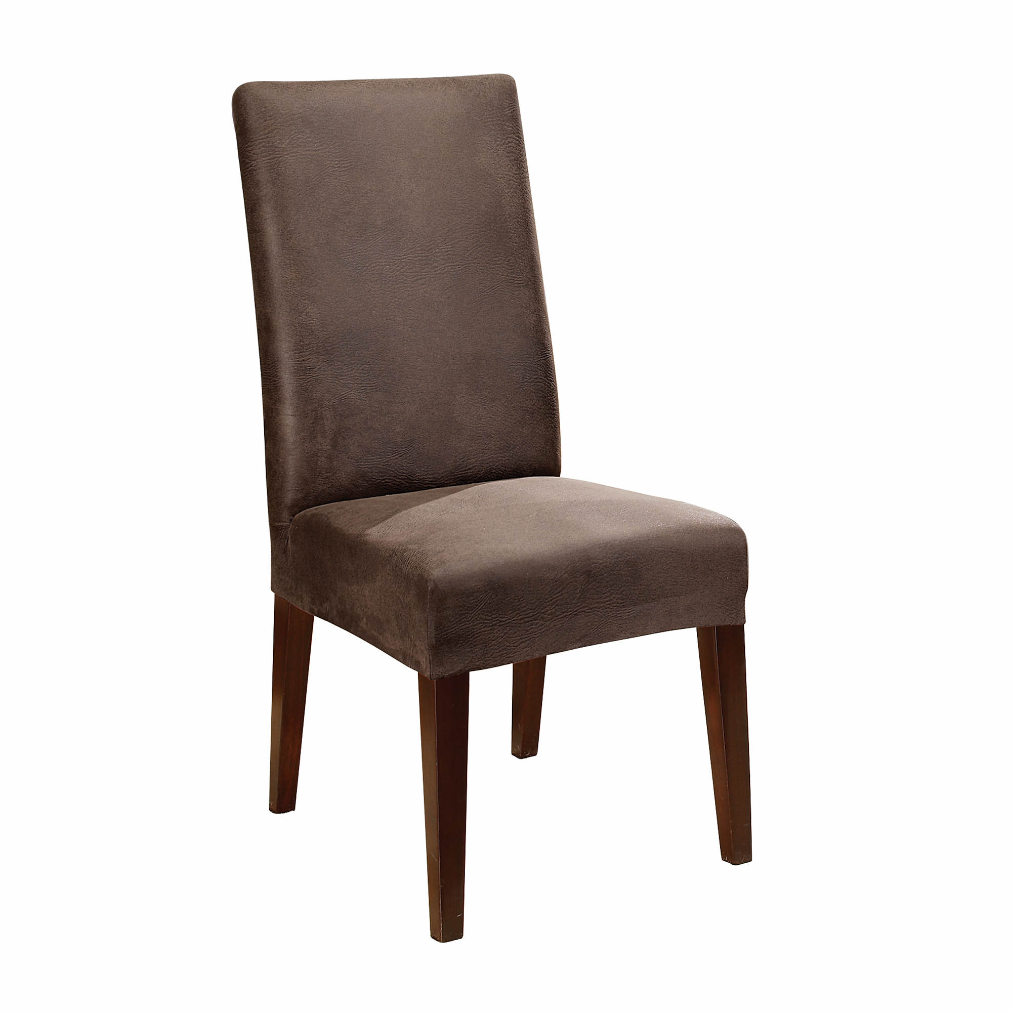 Sure Fit Stretch Leather Short Dining Chair Cover
