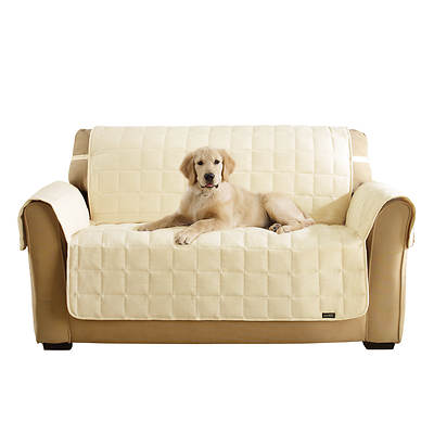 Sure Fit Soft Suede Waterproof Loveseat Pet Throw - Cream