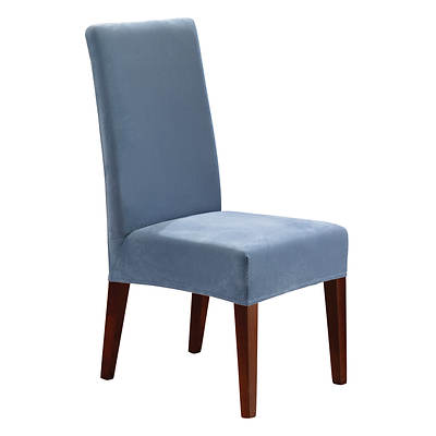 Sure Fit Stretch Pique Short Dining Chair Cover - Federal Blue