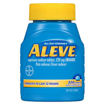 Aleve 220mg Naproxen Sodium Caplets, 320 Count