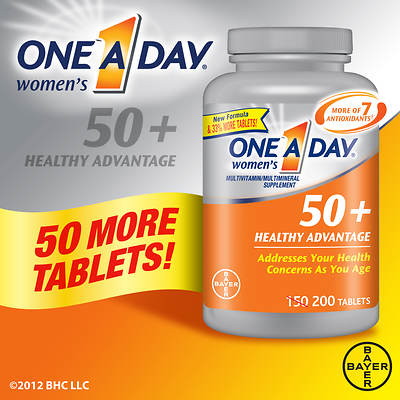 One A Day Women's 50+ Healthy Advantage Multivitamin Tablets, 200 Count